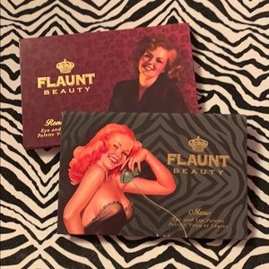 Flaunt Beauty makeup palette lot of 2 pinup girl